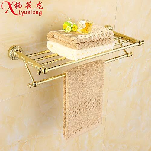 MBYW toallero Moderno y Minimalista de Gran Capacidad de Carga Toallero de baño de Moda Toallero de baño Toalla de Oro Rack Cuarto de baño Toallero Europeo Pequeño Lote Mixto
