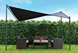 Coolaroo Butterfly Gazebo, Backyard or Patio Gazebo, 99% UV Block, Steel Frame, (13'1' X 13'1'), Charcoal