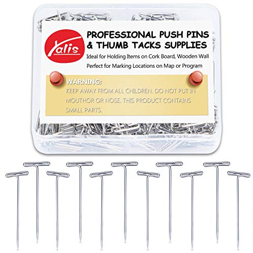 Yalis Steel T-pins 200 pcs 1-1/2 Inch for Knitting, Modelling and Crafts
