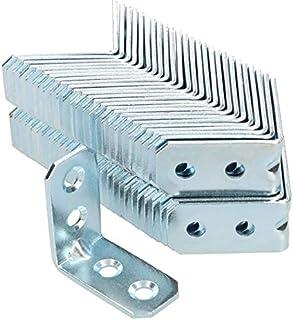 KOTARBAU - Ángulo de unión 30 x 30 x 16 x 2 mm con ranura de acero ángulo de construcción agujeros de montaje muebles cone...