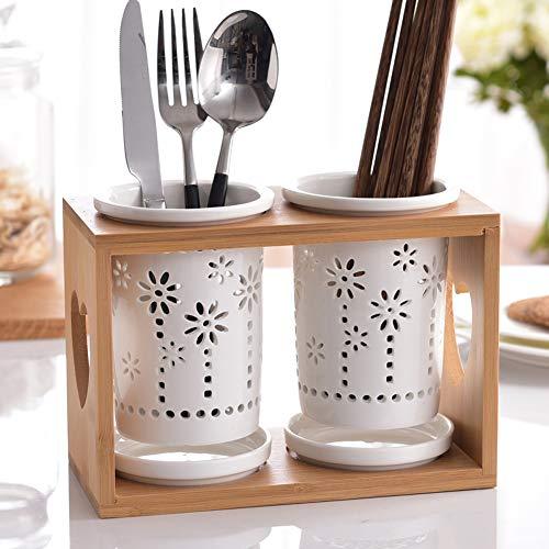 Gereedschaphouders Kitchen Door Cutlery- Praktische bestek afdruiprek - Porta Pose voor The sink Ideaal Deur bestek, eetstokjes, lepels, spatels, afdruiprek Keuken,12