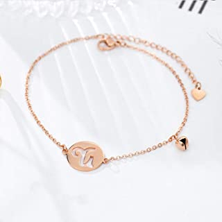 CXQ Personality Fashion Temperament Anklet Hollow 12 Constellation Capricorn Rose Gold Foot Ring Jewelry