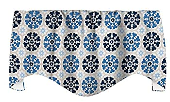 Valance Curtains Window Valances for Kitchen Window Curtains Window Treatments Blue Curtains Swag 53  x 18  Inches