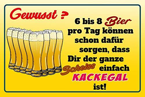FS spreuk bewust? 6 tot 8 bier per dag. gewoon kackegal is! Metal Sign Metal Sign 20 x 30 cm