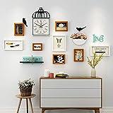 Marco de Fotos Pared Sala de Estar Reloj Foto Pared Moderno Minimalista Foto Pared Dormitorio sofá Fondo Pared combinación Marco de Fotos