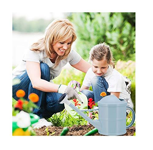 KPNG Regadera de plástico ligero de 21 cm para plantas de casa en interiores y exteriores, cabezal de ducha desmontable con boquilla larga para riego de jardín, plástico, grande, flores