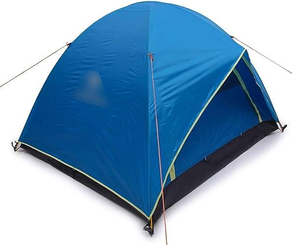 YaNanHome Tente Tente extérieure Tente Anti-Pluie épaisse 2-3 Personnes Tente de Camping Sauvage Tente de randonnée Couple Tente (Couleur   bleu, Taille   210  180  140cm)