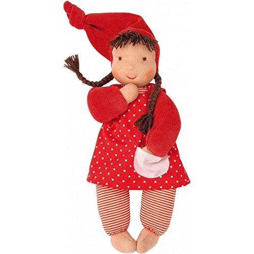 Käthe Kruse 38220 Kruse Stoff-Baby Puppe Schatzi mit Zipfelmütze in der Farbe Rot