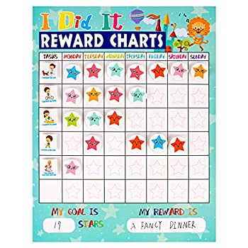 FLYAB Reward Chart for Kids,12 x 18  I Did It Reward Chore Chart for Tollder,Responsibility Behavior Chart for Home Preschool Daily Routine Record