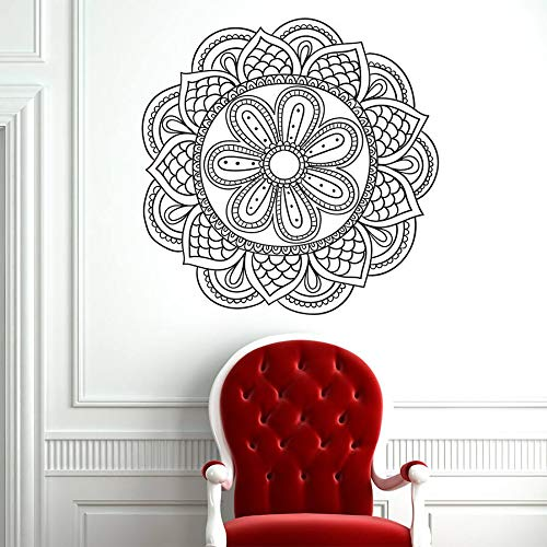 JHGJHGF Marokkanische Blume Yoga Wandaufkleber Wohnkultur Wohnzimmer Dekoration Rogo Muster Aufkleber