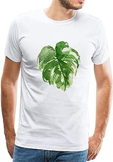 Mens T Shirt Tropical Palm Leaves Hawaiian Adult T-Shirt Short Sleeves Graphic Novelty Tees