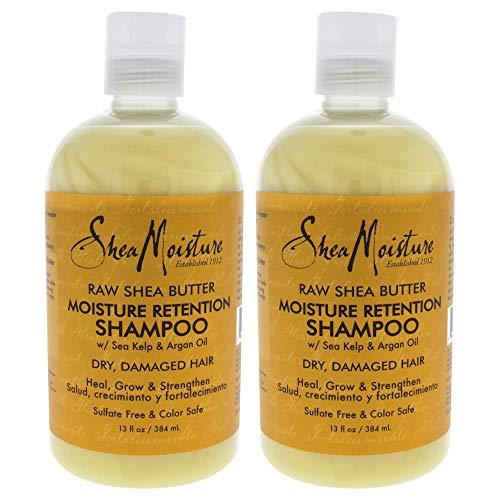 Raw Shea Butter Moisture Retention Shampoo by Shea Moisture for Unisex - 13 oz Shampoo - Pack...