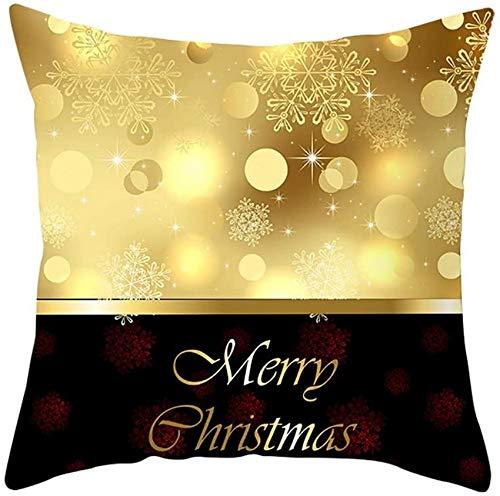 XXLYY Merry Christmas Polyester Pillowcase Christmas Pillow Case Glitter Polyester Sofa Throw Cushion Cover Home Decor Decoration Decor Cusion Throw Pillow Cases for Chair Car Pillowcases 45cm X 45cm