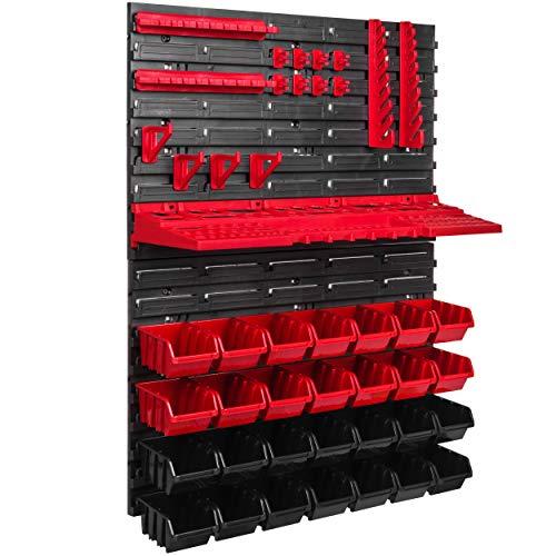 Lagersystem Wandregal 576 x 780 Stapelboxen Werkzeughalter Sichtlagerkästen Kunststoff Box Schütte (ITBNN600x2-U1001-MIX17)