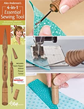 Alex Anderson s 4-in-1 Essential Sewing Tool  Includes Seam Ripper Stiletto Presser and Turner