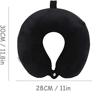 Travel Pillow,Airplane Neck Pillow for Traveling,100% Pure Memory Foam U Shaped Neck Pillow,Super Lightweight Portable Headre
