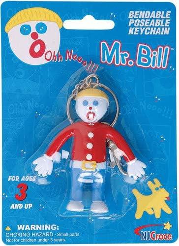 NJCroce Mr. Bill Bendable Keychain, Multicolor