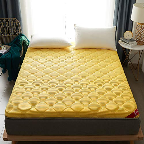 GZXX Tatami deurmatten, dik, comfortabel, antislip, ademend, rol-up-matras, slaapkussen voor slaapkamer, camping