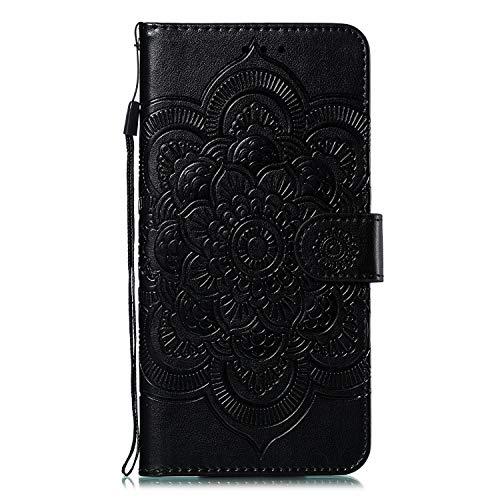 Hülle für Xiaomi Mi 9 Lite / CC9 Hülle Handyhülle [Standfunktion] [Kartenfach] [Magnetverschluss] Tasche Etui Schutzhülle lederhülle flip case für Xiaomi Mi 9 Lite - JEEB011697 Schwarz