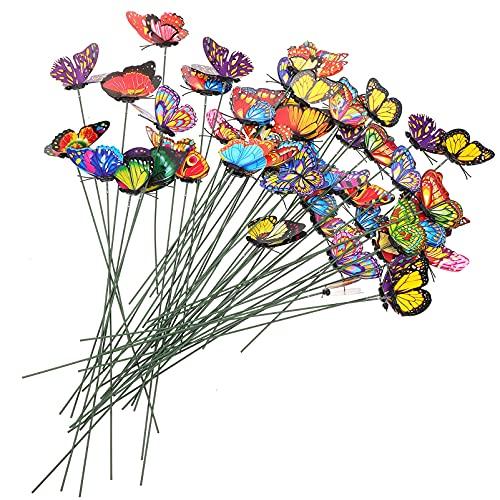 Generic 7 CENTÍMETROS Estacas Borboleta 3D Borboleta Decoração Do Gramado Ao Ar Livre À Prova D Água de Plástico Estacas Borboleta Enfeites de Jardim Flor Da Arte Da Borboleta para O
