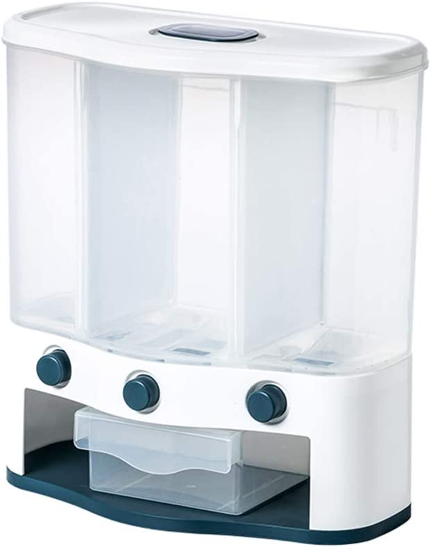 Gazechimp Dry Food Dispenser Max 57% OFF 3 Max 64% OFF Dispense Mounted Wall Cereal Grid