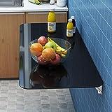 Soporte Mesa de Comedor Plegable Mesa para Colgar en La Pared Invisible Vidrio Templado Gran Capacidad de Carga Adecuada para Mesa de Cocina y Comedor Escritorio Estudio
