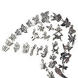 100er Schmuckanhänger Mischform Zinklegierung Anhänger Bastelmaterial für Handarbeit Bastelarbeit Armband