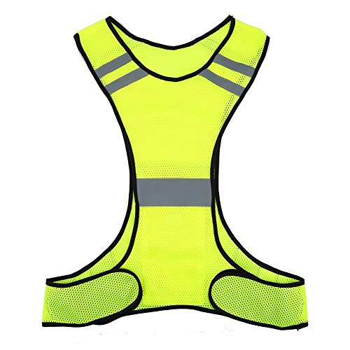 Chaleco reflectante - Chaqueta reflectante de alta visibilidad Chaleco de seguridad Equipo para correr para correr de noche Correr en bicicleta (Color : Yellow)