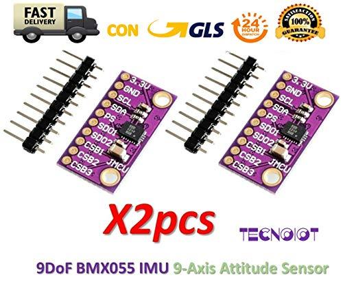 TECNOIOT 2pcs 9DOF BMX055 IMU Precision Integrated 9-Axis Attitude Sensor Replace MPU9250