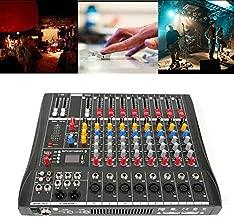 TFCFL Usb Audio Interface Professional Audio Mixer Sound Board Console Desk System Interface 8 Channel Digital USB Computer Input AC 110V 50Hz 18W Phantom Power Stereo DJ Studio Black