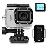 Pyle Expo Sports Action Camera - HD 1080P Mini Hi-Res Camcorder w/ Wifi, 20MP Cam, 2' Screen USB SD Card HDMI, Battery - Waterproof Case, USB Cable, Wireless Remote Control, Mount - PSCHD90SL (Silver)