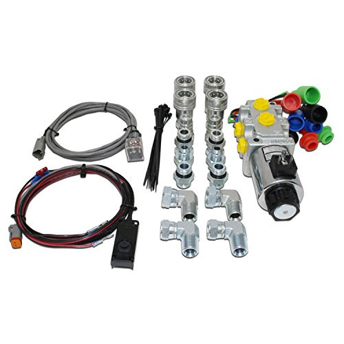 Hydraulic Multiplier Selector Valve Kit w/Switch, Couplers & Fittings, 10 SAE Ports, 30 GPM