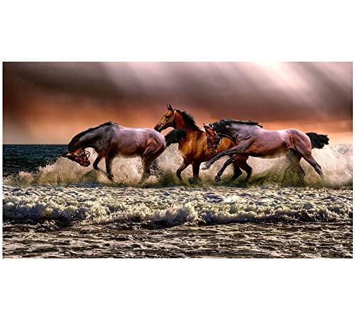 HU0QWPKU paard lopend aan zee puzzel personaliseer DIY kunst moderne muurschildering huis decoratie hout familiepuzzel 500 stuks
