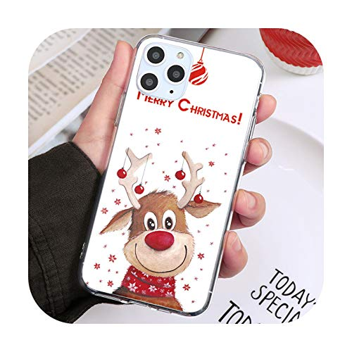 Carcasa para iPhone 12 Mini estilo de Navidad caliente Coque para iPhone 11 12 Pro 11Pro XS Max XR X 7 8 6S Plus 5 SE2 cubiertas transparentes sdbdxlu-para iPhone 11