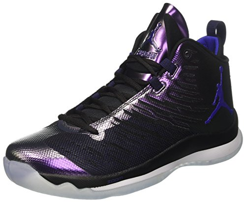 Nike Mens Jordan Super.Fly 5 Multi Mesh Trainers,  black/black/black/metallic silver, 45 ( 10 UK / 11 US )