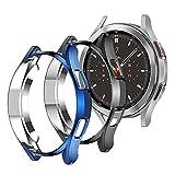 Diruite 4 Pack Compatible con Samsung Galaxy Watch 4 Classic 46mm Fundas,TPU Flexible antirrayas Funda Protectora Suave para Samsung Galaxy Watch 4 Classic 46mm