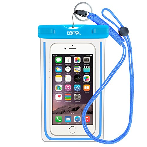 EOTW Funda Impermeable IPX8 Universal para Deportes acuaticos para iPhone XS MAX XR 8 7 6 Plus/BQ Aquaris/Huawei P30 P20 P10/Samsung S8 S7 y Otros Móviles hasta 7 Pulgadas.(Azul)