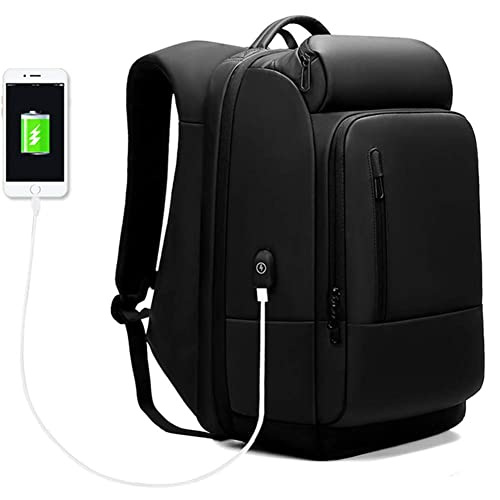 Business Laptop Backpack Water Repellent Functional Travel Laptop Bag with USB Charging Port Large Capacity Fits 17.3 Inch Laptop Durable Anti Theft College School Computer Bag for Men and Women
