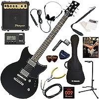YAMAHA エレキギター 初心者 入門 アルニコピックアップ搭載のレブスター 10wアンプが入ったスタンダード15点セット RS420/BST(ブラックスティール)