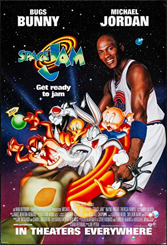 """Sweetums Signatures Space Jam Poster Movie F Michael Jordan Bill Murray Wayne Knight Theresa Randle MasterPoster Print, 24"""" x 36"""" inch(60 x 91.5 cm) Frameless Gift Rolled"""