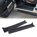 XBEEK Door Sill Entry Guards for Jeep 2018-2021 Wrangler JL and 2020-2021 Gladiator JT Black Full Coverage for Door Sill (2- Door)