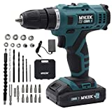 MYLEK 21V Cordless Drill Electric Screwdriver Combi Set DIY, 2 Speed Driver Kit, Fast Charge Li-ion Battery Pack, Variable Speed, Lightweight, LED Light, Carry Case and 29-Piece Accessory Bits