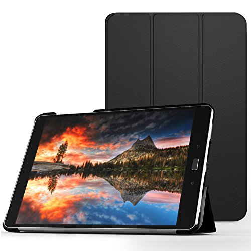 MoKo ASUS ZenPad 3S 10 Hülle - Ultra Slim Lightweight Schutzhülle Smart Cover Standfunktion für ASUS ZenPad 3S 10 9.7 Zoll Z500M 2016 Modell (Nicht kompatibel mit Z500KL) Tablet-PC, Schwarz