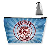 Bayside Tigers Makeup Case Toiletry Bag with Zipper for Traveling Storage