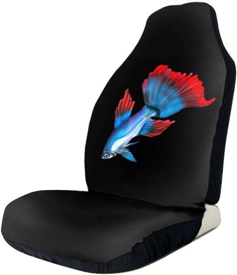 POI78 Blue Red Betta Fish Colorful Pattern Cov Seat Fashion Ranking TOP7 Auto Award