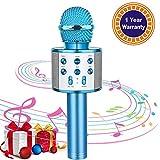 Karaoke Microphone for Kids Wireless Bluetooth Mic Handheld Children Toy Microphone Speaker Music...