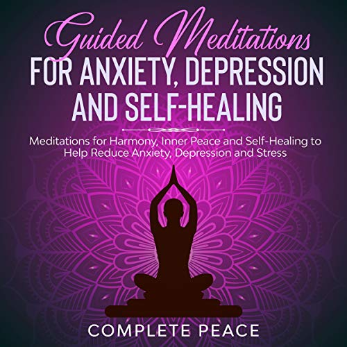 『Guided Meditations for Anxiety, Depression, and Self-Healing』のカバーアート