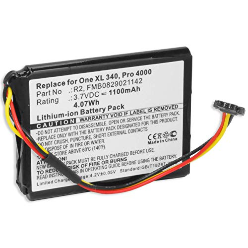 Batería Compatible con Tomtom One XL, XL 340(S), XXL/One XL 30er Serie/XL Live, Holiday, IQ… - Ver Lista!