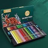 200/180/150/120/72/48/24 Lápiz de Color aceitoso Profesional de Colores Pluma de Acuarela Suave de Madera - 72 Colores al óleo