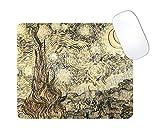 N\A Creaciones Pixxel | Vincent Van Gogh inspiró Alfombrilla de ratón | Noche Estrellada Sepia | Juegos | Oficina | Escritorio | casa | Regalo | d & Eacute; Cor